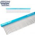 SHOW TECH Big Brother расческа-гребень 25 см с зубчиками 3,5 см, частота 3 мм, голубая