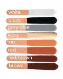 028 Chris Christensen Chris Red Brown Stix / Красно-коричневый Маскирующий мелок для шерсти (США)